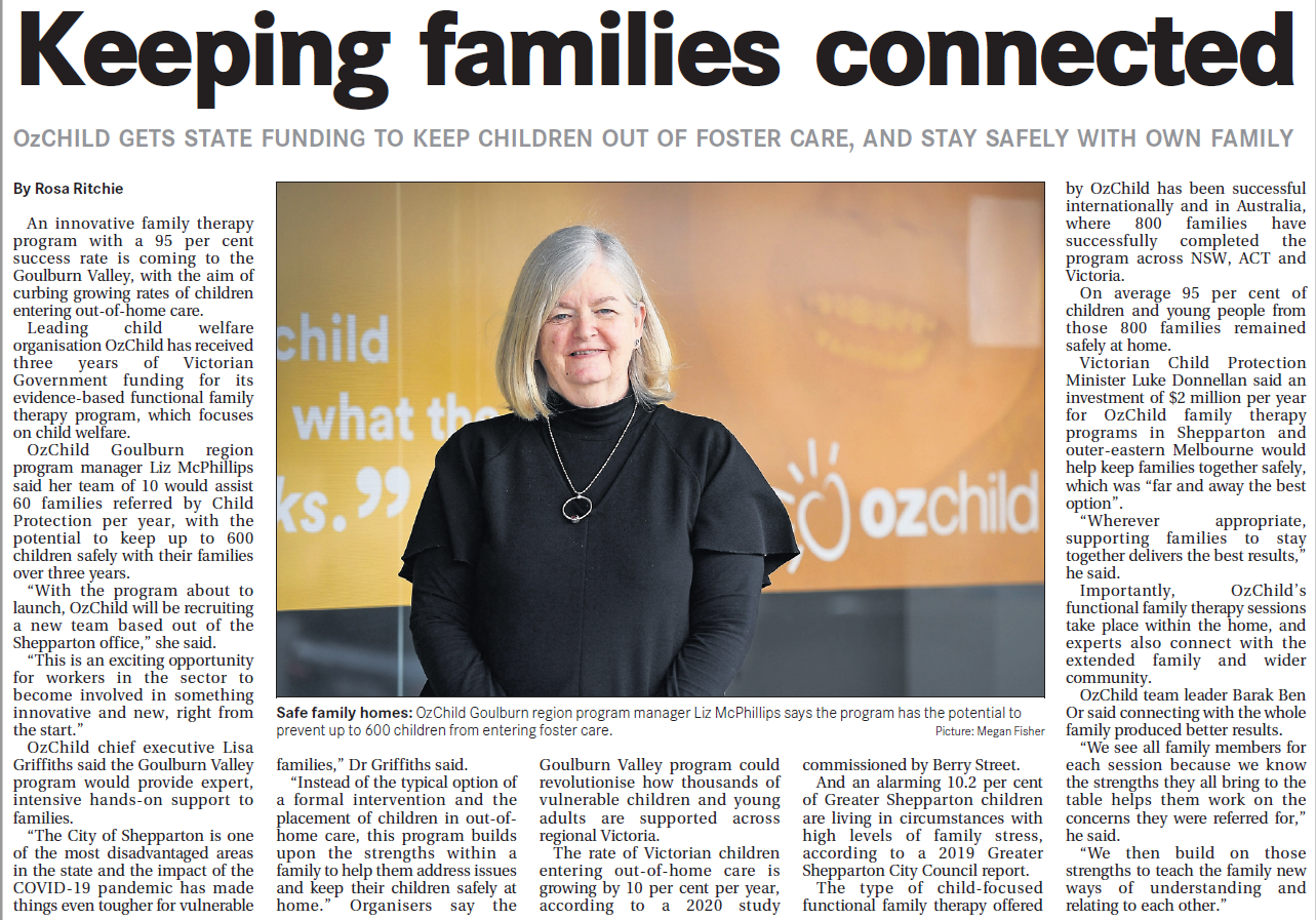 Delivering a program that works for regional families